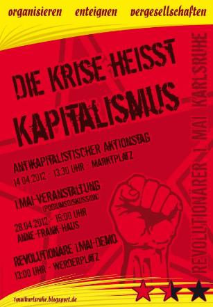 Der Vorfeldaktionstag zum revol. 1.Mai in Karlsruhe ist am Sa. den 21.04., nicht wie auf Flyern und Plakaten am vergangenen Sa. den 14.04.!!!!!!!!!!!!!!!!!!!!!